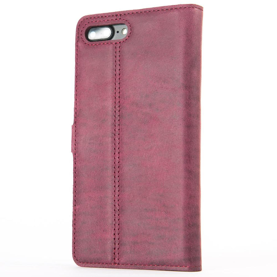 Vintage Plum Leather Wallet - Apple iPhone 8 Plus - Snakehive