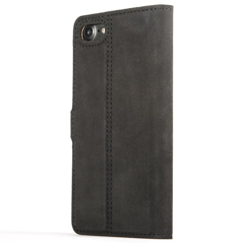 Vintage Black Leather Wallet - Apple iPhone 8 - Snakehive