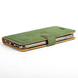 Vintage Bottle Green Leather Wallet - Apple iPhone 7 - Snakehive