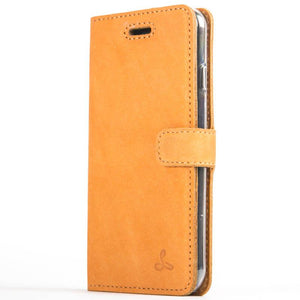 Vintage Burnt Orange Leather Wallet - Apple iPhone 8 - Snakehive