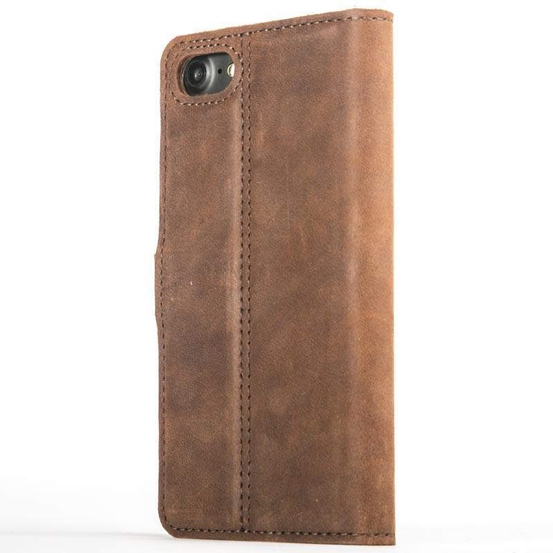 Vintage Chestnut Brown Leather Wallet - Apple iPhone 8 - Snakehive