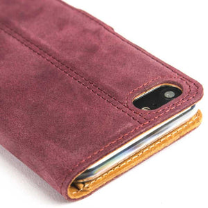 Vintage Plum Leather Wallet - Apple iPhone 8 - Snakehive