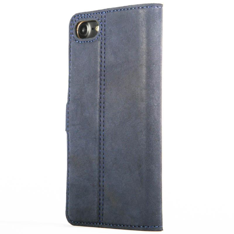 Vintage Navy Leather Wallet - Apple iPhone 7 - Snakehive
