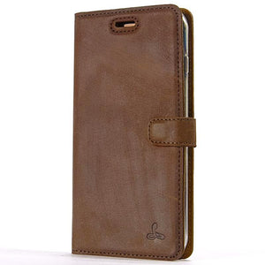 Vintage Chestnut Brown Leather Wallet - Apple iPhone 8 Plus - Snakehive