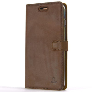 Vintage Chestnut Brown Leather Wallet - Apple iPhone 7 Plus - Snakehive