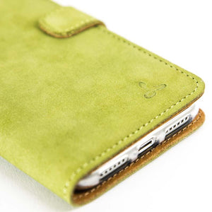 Vintage Moss Green Leather Wallet - Apple iPhone X - Snakehive