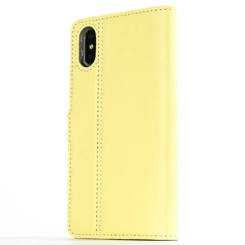 Lemon Pastel Leather Wallet - Apple iPhone X - Snakehive