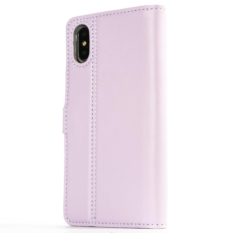 Lilac Pastel Leather Case - Apple iPhone X - Snakehive