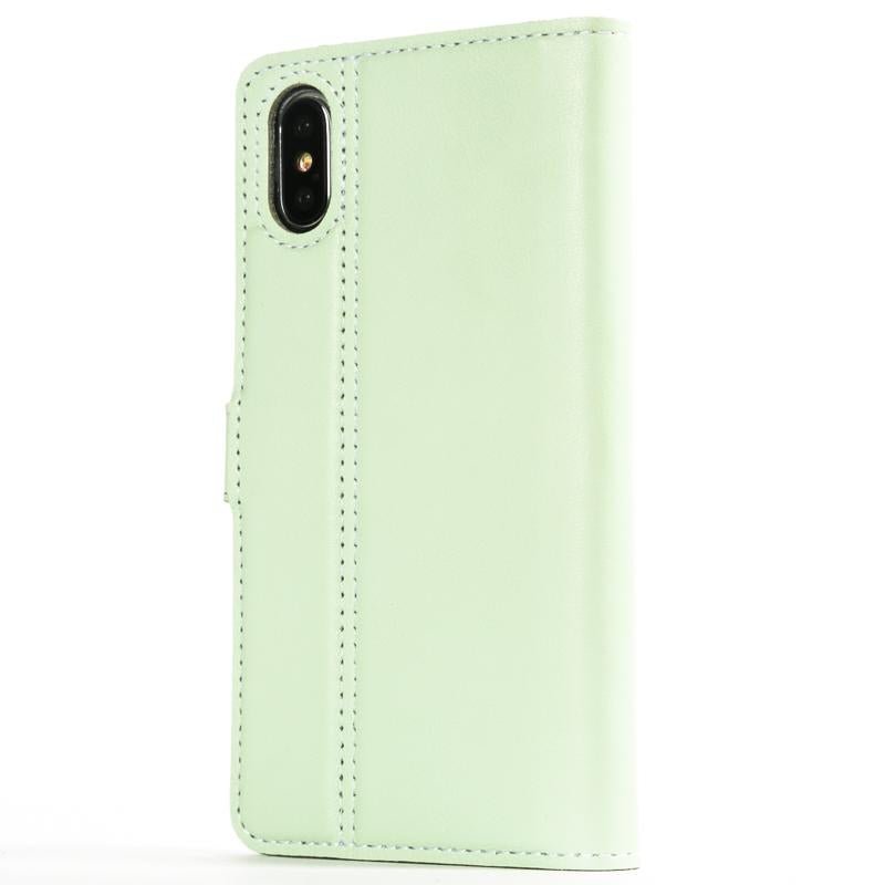 Mint Green Pastel Leather Case - Apple iPhone X - Snakehive