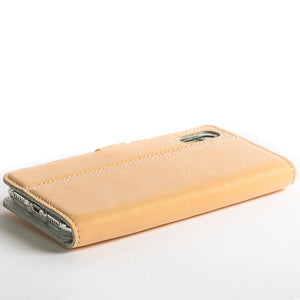 Peach Pastel Leather Case - Apple iPhone X - Snakehive