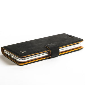 Vintage Black Leather Wallet - Apple iPhone X - Snakehive