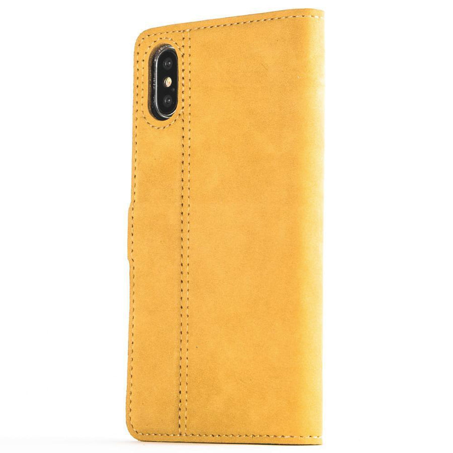 Vintage Honey Gold Leather Wallet - Apple iPhone X - Snakehive