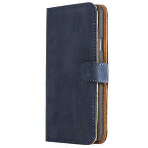 Vintage Navy Leather Wallet - Samsung Galaxy A3 (2015) - Snakehive