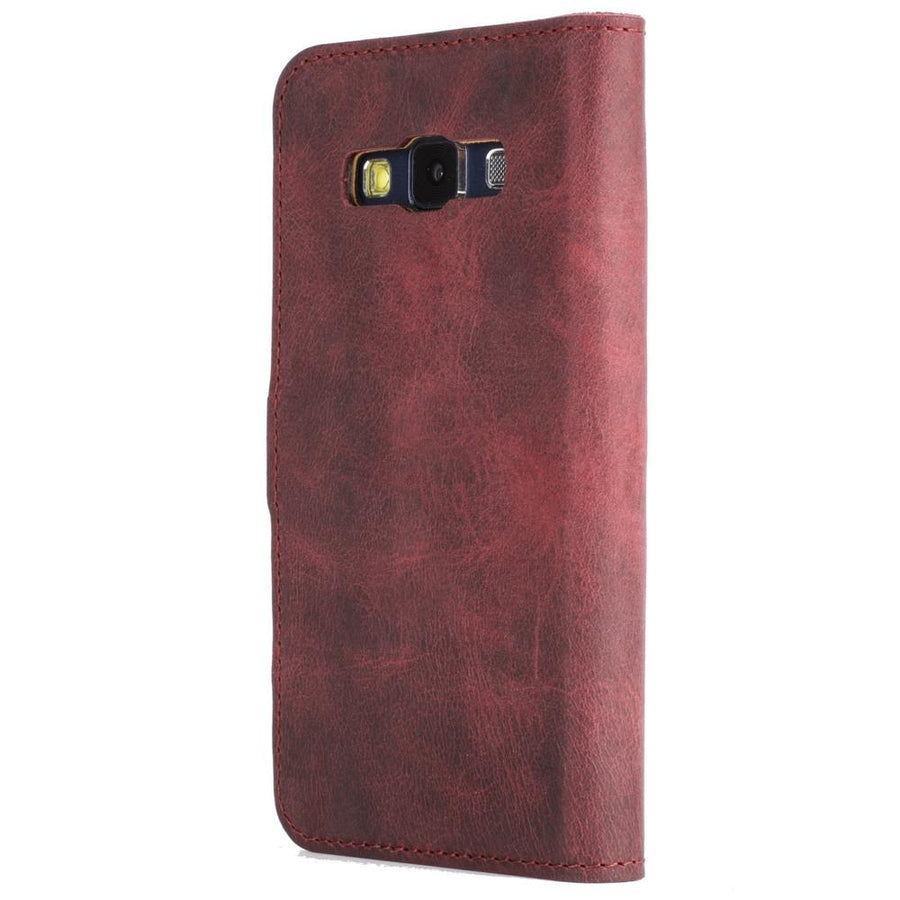 Vintage Plum Leather Wallet - Samsung Galaxy A3 (2015) - Snakehive