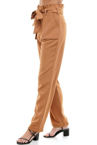 Paperbag Waist Long Pants
