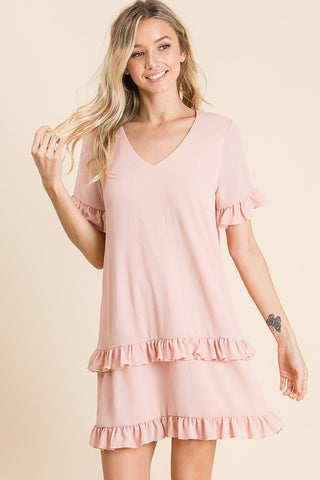 Ruffle Shift Dress