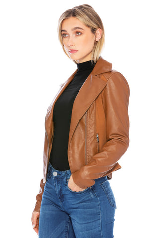 Grand Panel Vegan Leather Jacket