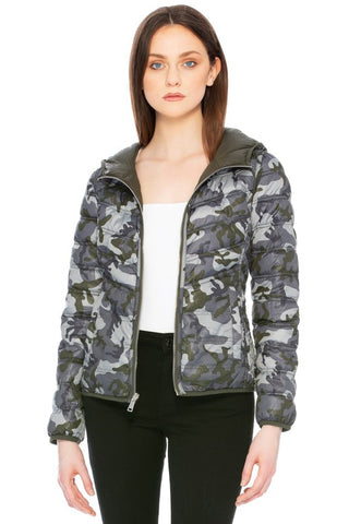 Camo Can You Go Hooded Reversible Jacket