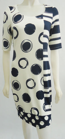 Stripe and Circle Printed Dress