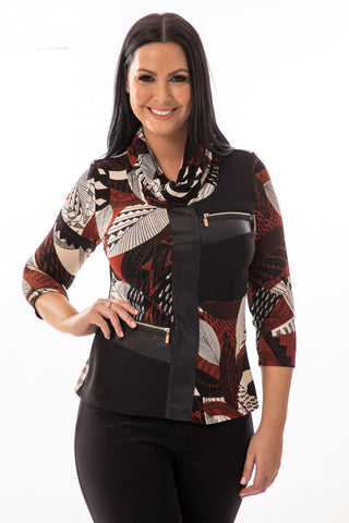 Abstract Snake Skin Top