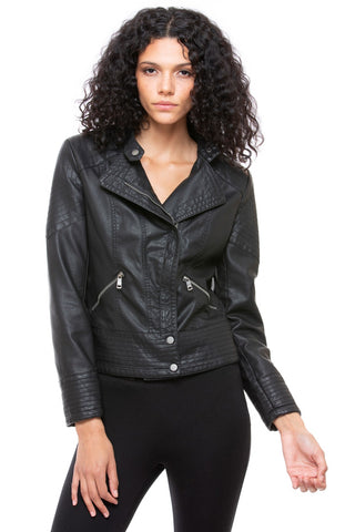 Jacket Black Stitched Shoulder 2 Pockets