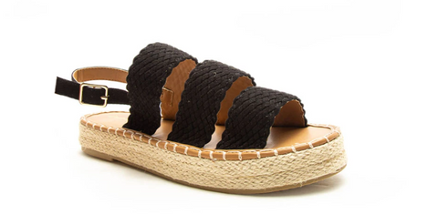 3 Band Wedge Sandal
