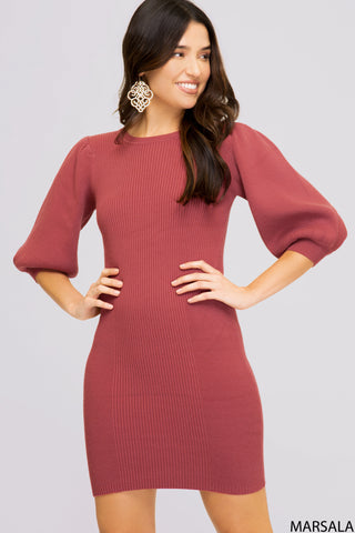 Rib Knit Bubble Dress
