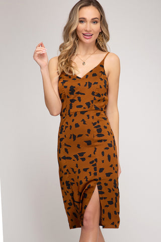 Animal Print Cami Dress