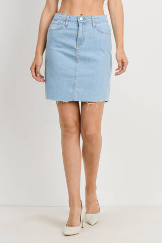 Scissor Cut Pencil Skirt