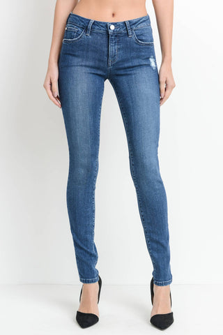 Medium Wash Mild Distressing Butter Jeans