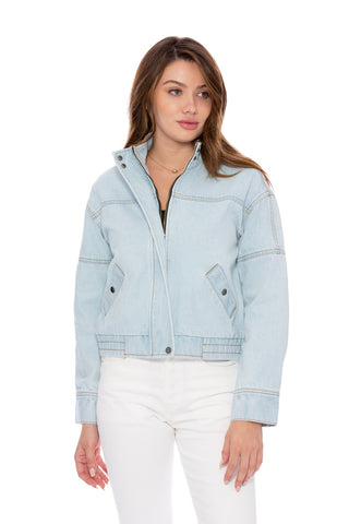Khloe Denim Blue Bomber