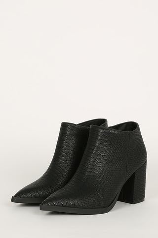Black Snakeskin Boot