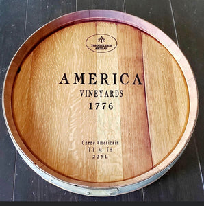 Large wine barrel lazy susan