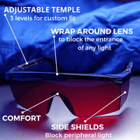 BioSleep™ - Sleep Hacking Blue/Green Light Blocking Glasses - Biohacker's Online Store