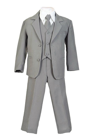 Regular 5pc Suit Silver White Beige, 6m-20
