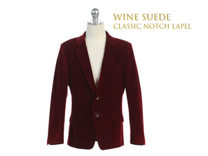 Slim Fit Suede Suit Blazer 2T-20