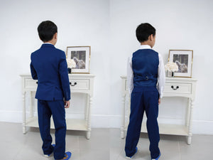 Slim Fit 7pc Blue Suit 1-18
