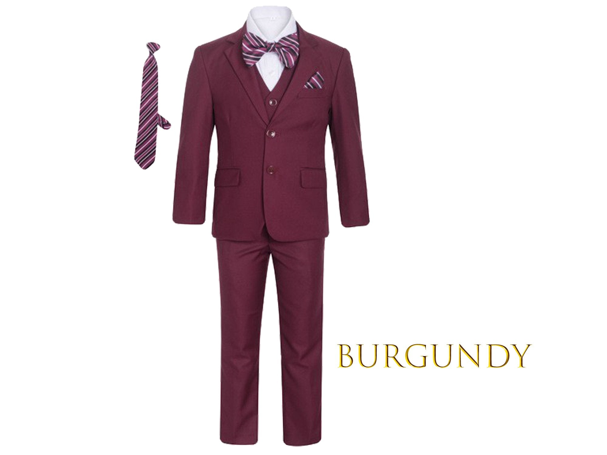 Boys Premium Clip On Necktie For Suits and Tuxedos