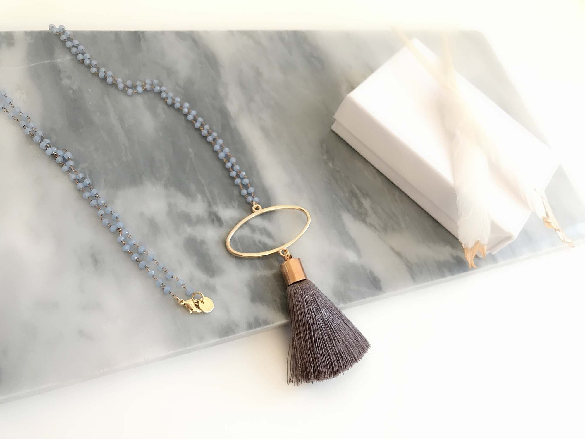 Silk Tassel 18K Gold plated Necklace