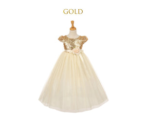 Sparkle Tulle Tea Length Dress 6m-12