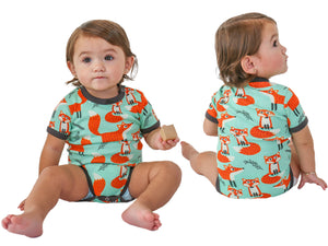 Infant Cotton Onesie Fox 6-18m