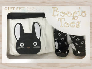 Gift Set Baby Rattle Socks Cotton Tights, Cat 6-12m