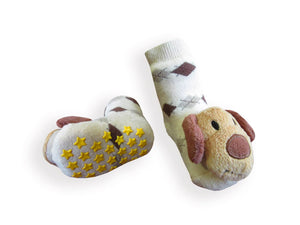 Gift Set Baby Rattle Socks Cotton Tights, Puppy 6-12m