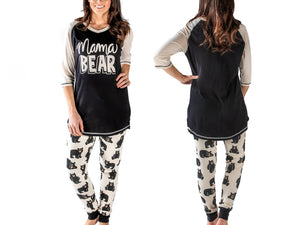 Cotton PJ Tall Tee & Leggings Set: Mama Bear
