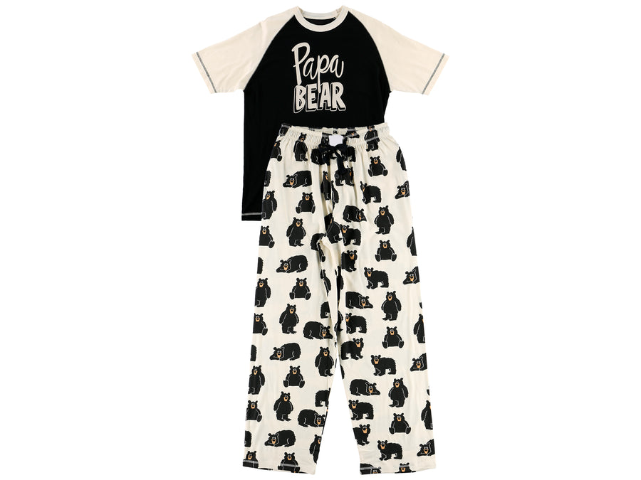 Cotton PJ Tee & Pants Set: Papa Bear