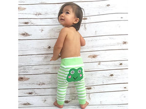 Green Frog Tights 6-12m