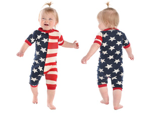 Infant Cotton Romper USA Stars & Stripes 6-18m