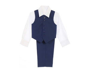 4pc Vest Suit, Indigo Black 2-16