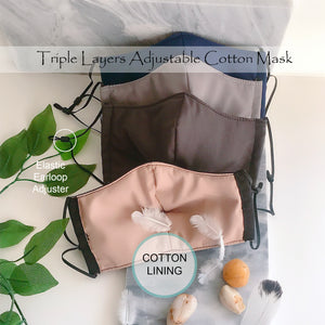 Dark Cotton Face Contour Mask