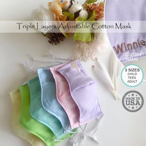 Pastel Cotton Face Contour Mask